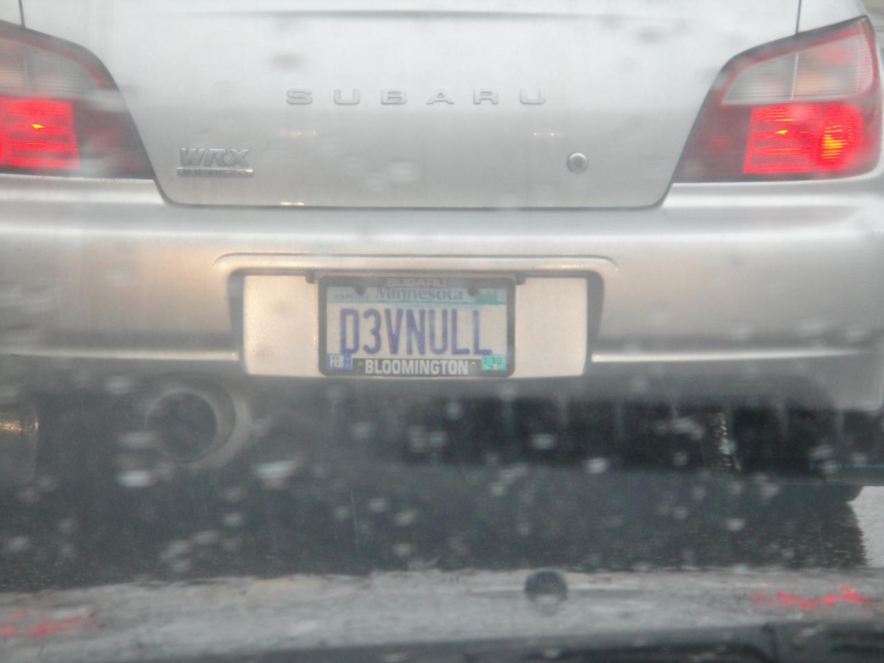 D3vNull License Plate for Hackers