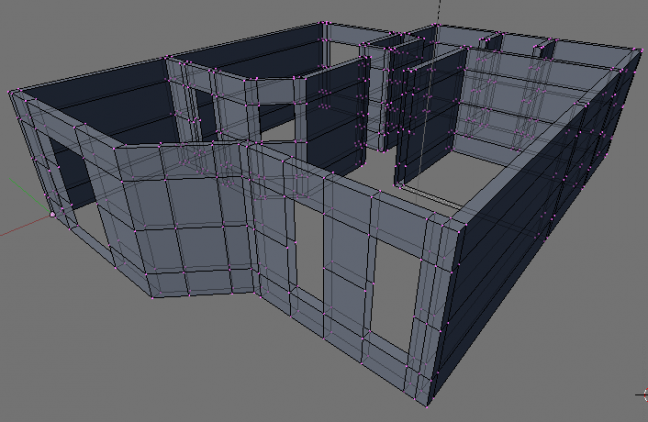 3d model of first floor