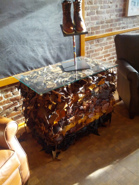 Table Made From Shoes